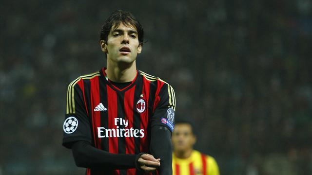 Kakà con la maglia del Milan