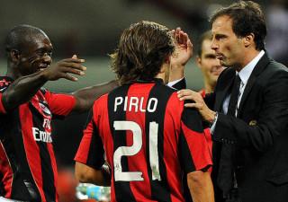 Allegri, Pirlo e Seedorf ai tempi del Milan