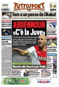 Prima pagina Tuttosport 23 giugno