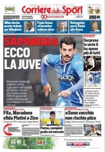 Prima pagina Corriere 23 giugno