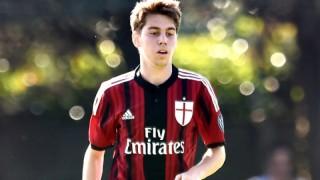 Piccinocchi con la maglia del Milan