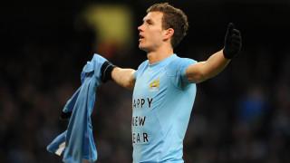 Edin Dzeko, attaccante del Manchester City nel mirino del Milan