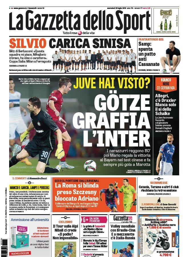 La Gazzetta dello Sport | 22 luglio 2015