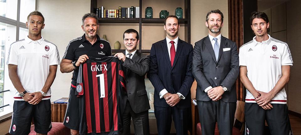 GKFX, partnership di 3 anni con il Milan