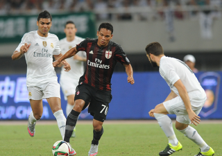 Carlos Bacca in Real Madrid-Milan 10-9 d.c.r.