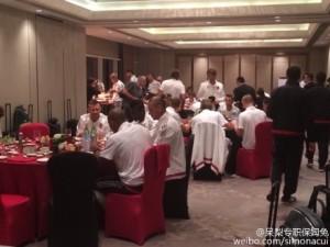 Milan a cena al Kerry Hotel di Shanghai