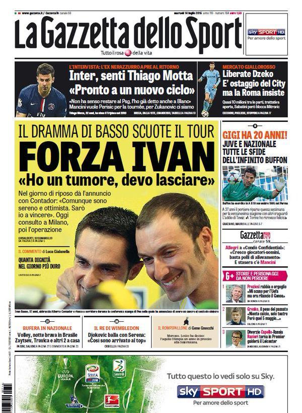La Gazzetta dello Sport | 14 luglio 2015