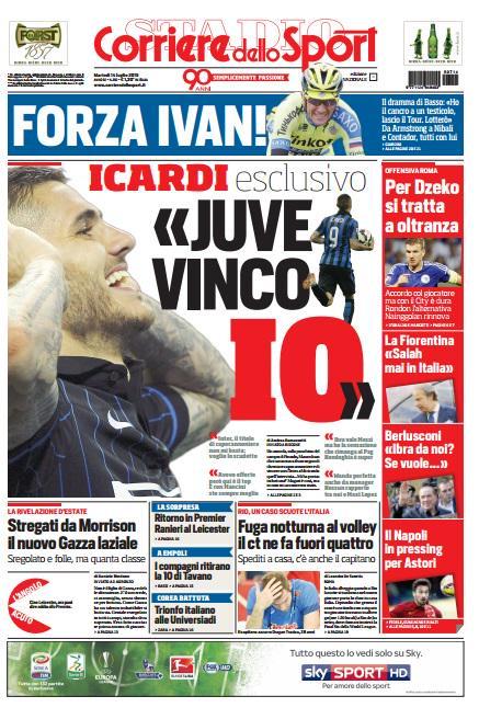 Corriere dello Sport | 14 luglio 2015