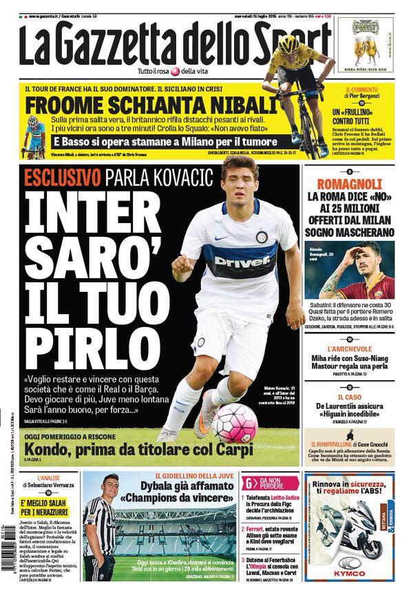 La Gazzetta dello Sport | 15 luglio 2015