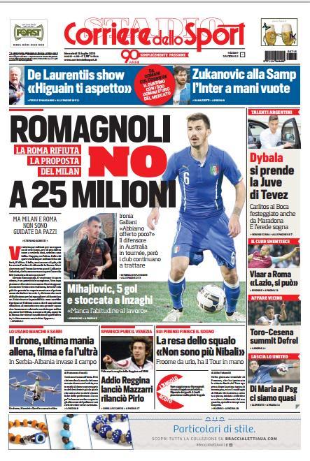 Corriere dello Sport   15 luglio 2015