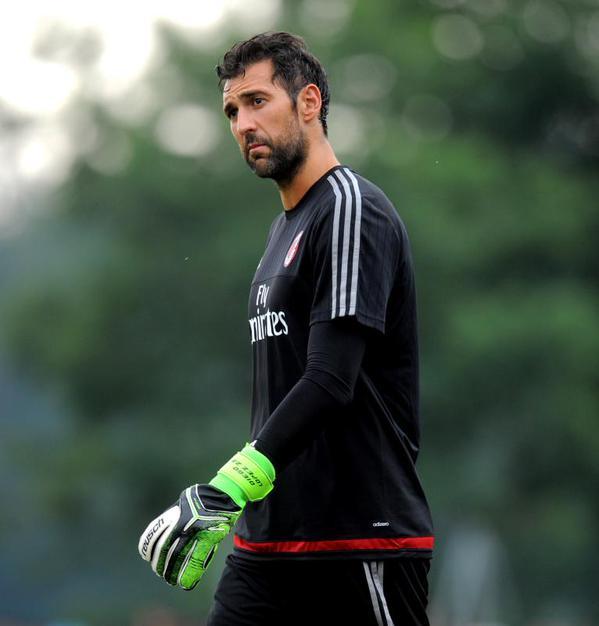 Diego Lopez nel primo allenamento stagionale