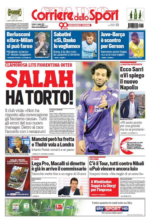 Corriere dello Sport   4 luglio 2015