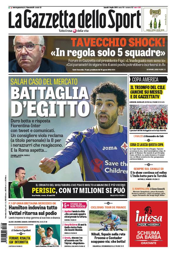 La Gazzetta dello Sport | 6 luglio 2015
