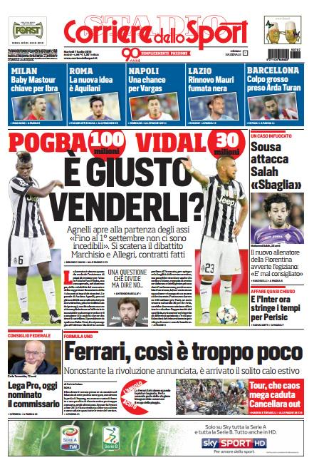 Corriere dello Sport | 7 luglio 2015