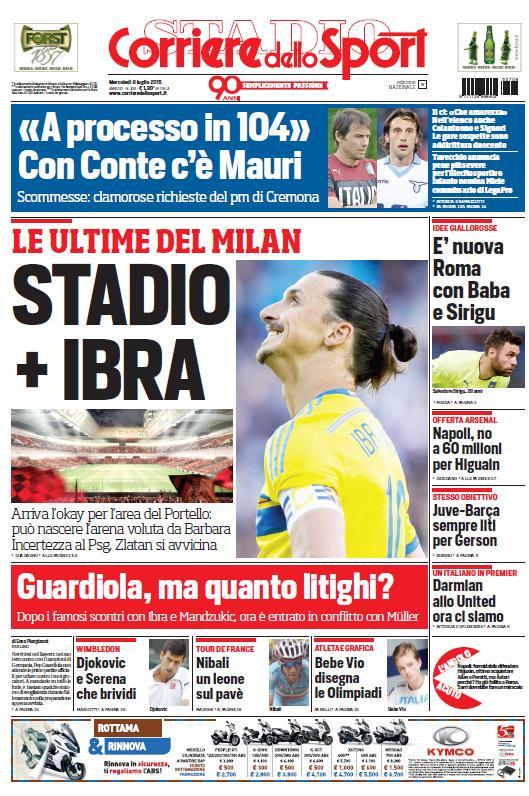 Corriere dello Sport | 8 luglio 2015