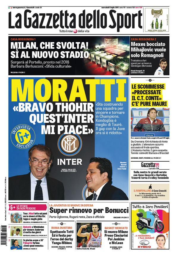 La Gazzetta dello Sport | 8 luglio 2015