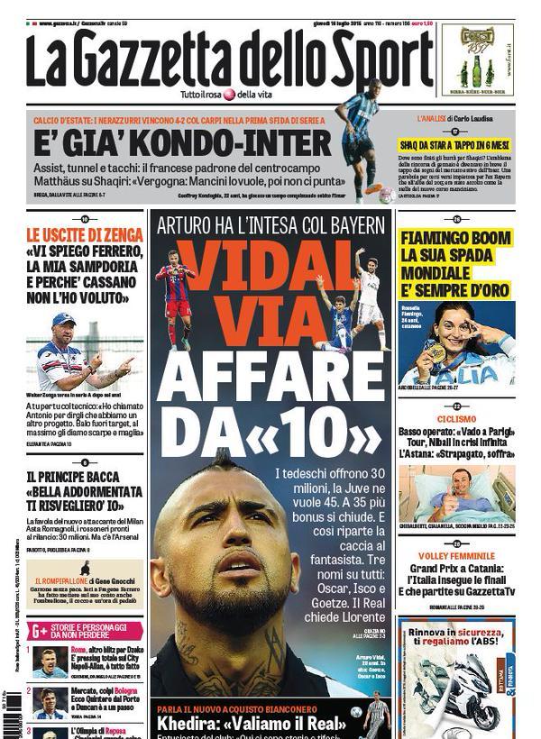La Gazzetta dello Sport | 16 luglio 2015