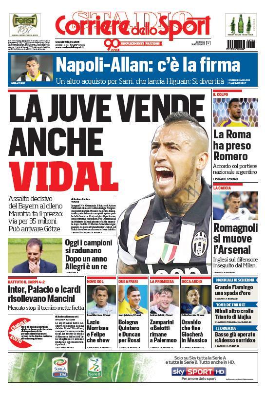 Corriere dello Sport   16 luglio 2015