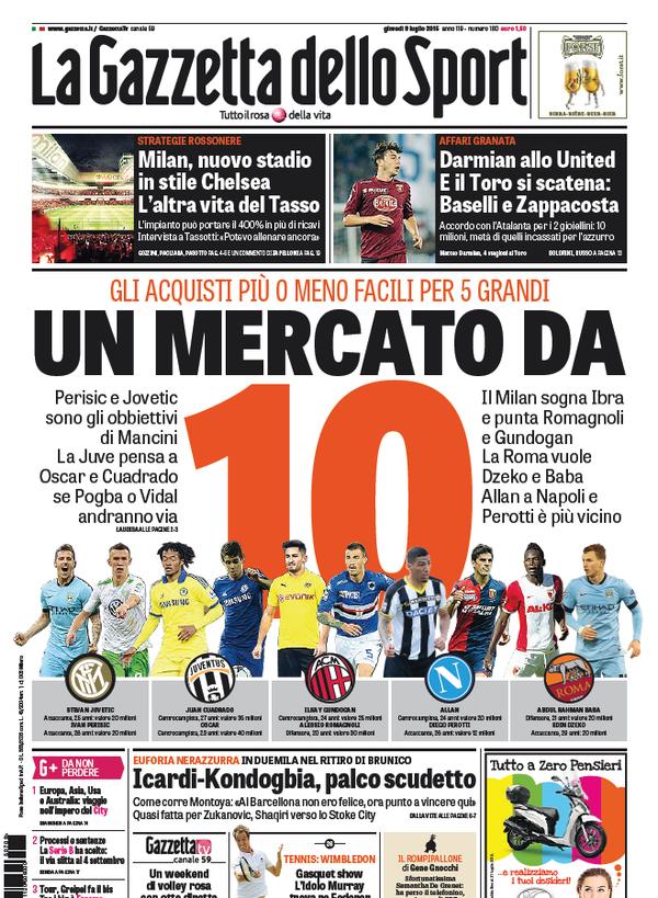 La Gazzetta dello Sport | 9 luglio 2015