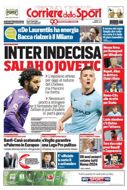 Corriere dello Sport | 9 luglio 2015