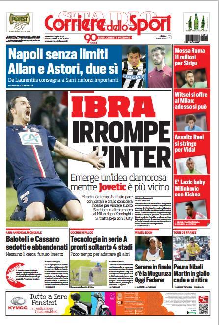 Corriere dello Sport   10 luglio 2015