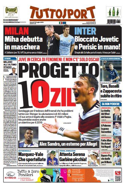 Tuttosport | 10 luglio 2015