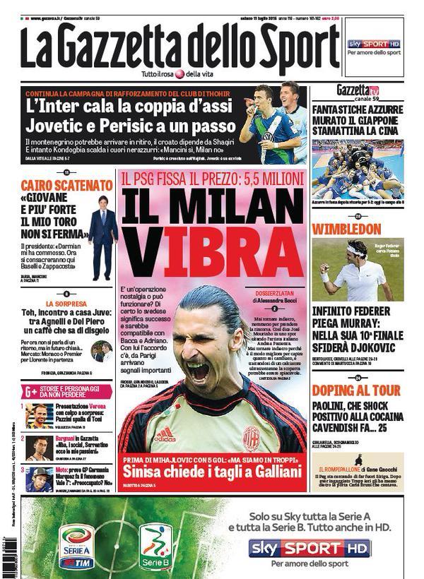La Gazzetta dello Sport | 11 luglio 2015