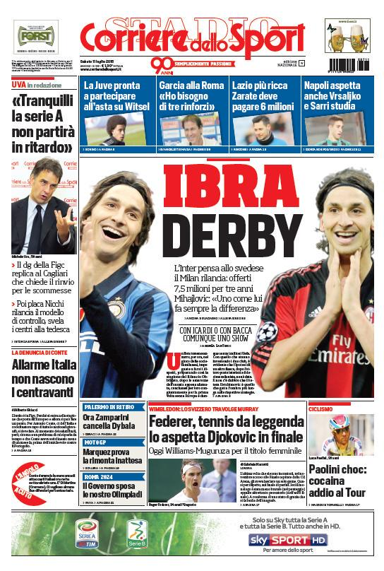 Corriere dello Sport   11 luglio 2015