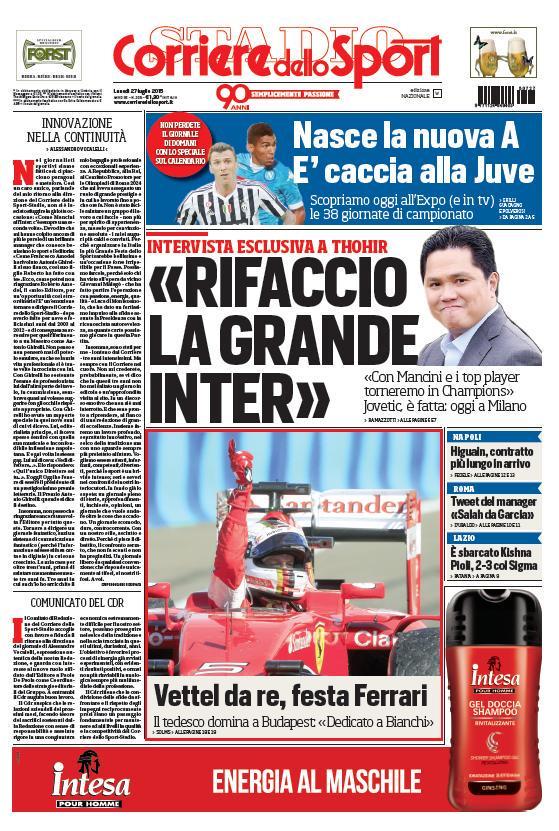 Corriere dello Sport | 27 luglio 2015