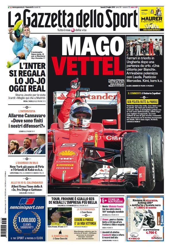 La Gazzetta dello Sport | 27 luglio 2015