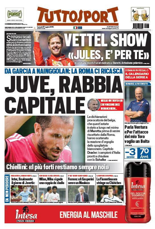 Tuttosport | 27 luglio 2015