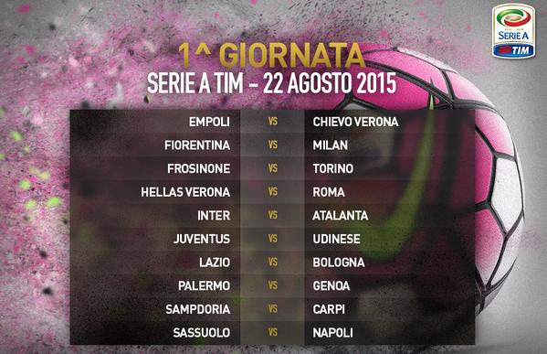 Prima giornata Serie A 2015-16