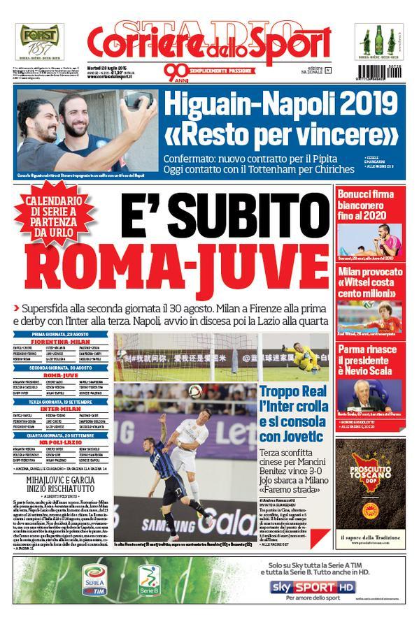 Corriere dello Sport | 28 luglio 2015