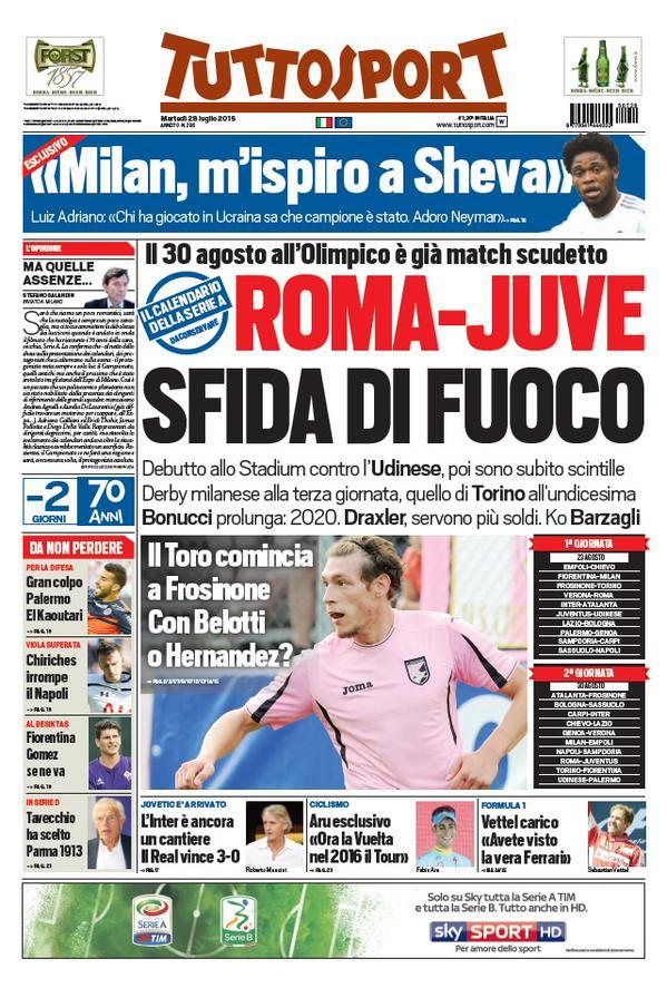 Tuttosport | 28 luglio 2015