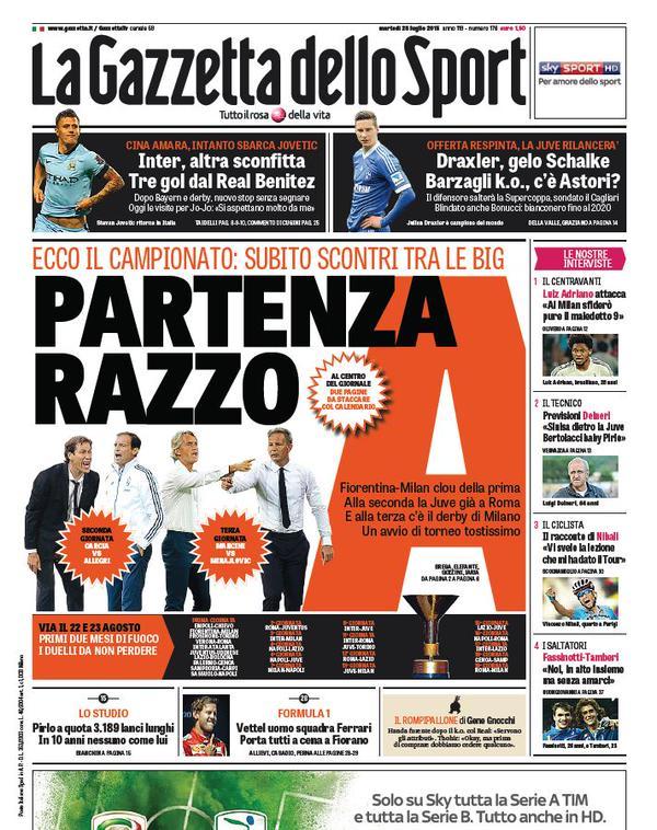 La Gazzetta dello Sport | 28 luglio 2015