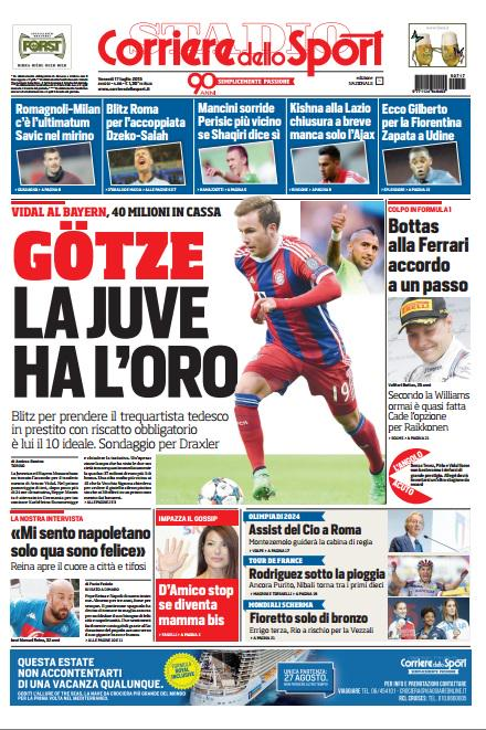 Corriere dello Sport | 17 luglio 2015
