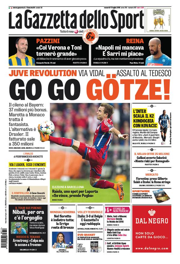 La Gazzetta dello Sport | 17 luglio 2015