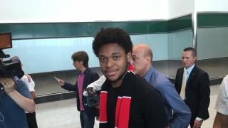 Luiz Adriano arriva a Malpensa