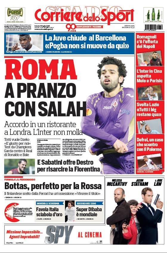 Corriere dello Sport | 18 luglio 2015