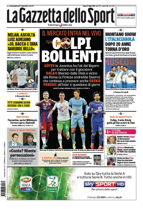 La Gazzetta dello Sport | 18 luglio 2015