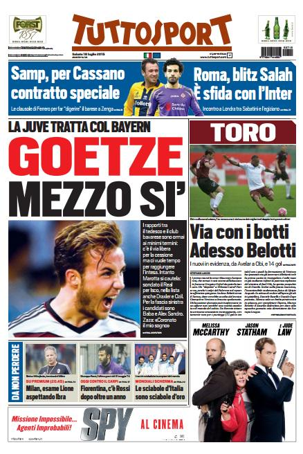Tuttosport | 18 luglio 2015