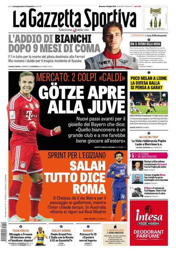 La Gazzetta dello Sport | 19 luglio 2015