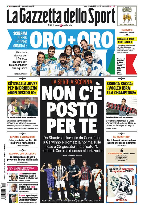 La Gazzetta dello Sport | 20 luglio 2015