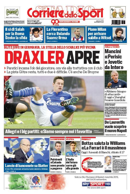 Corriere dello Sport   21 luglio 2015