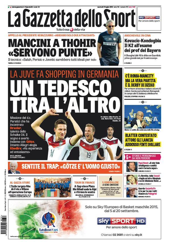 La Gazzetta dello Sport   21 luglio 2015