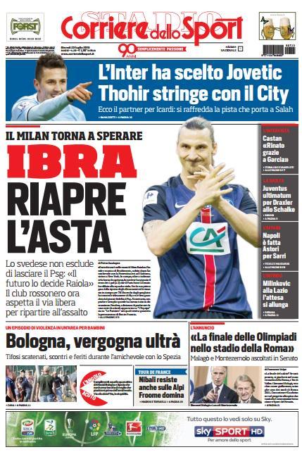 Corriere dello Sport | 23 luglio 2015
