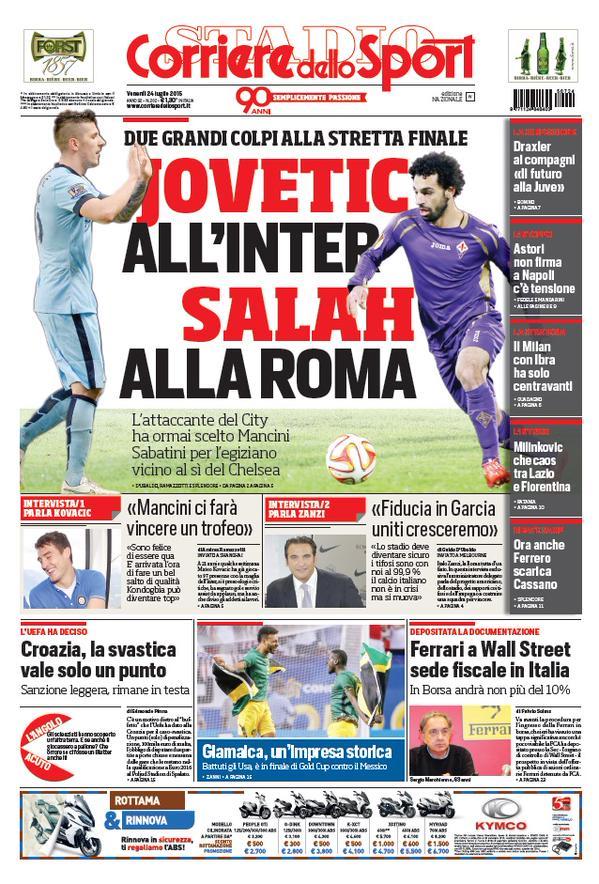 Corriere dello Sport   24 luglio 2015