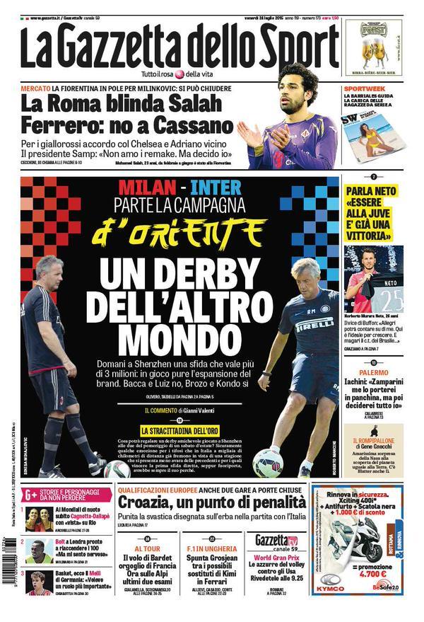 La Gazzetta dello Sport   24 luglio 2015