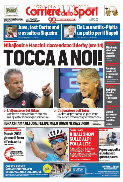 Corriere dello Sport | 25 luglio 2015