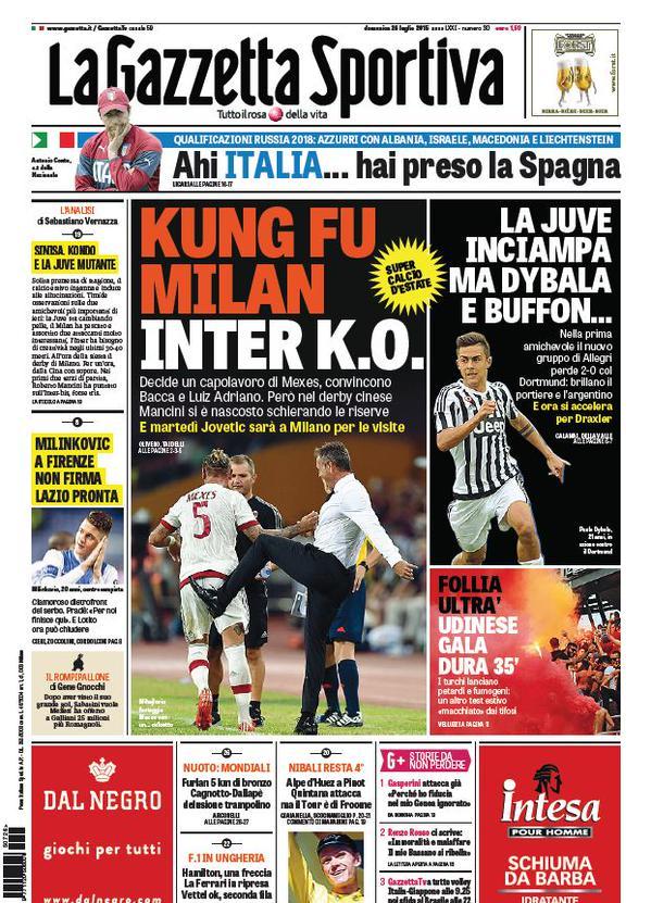 La Gazzetta dello Sport | 26 luglio 2015